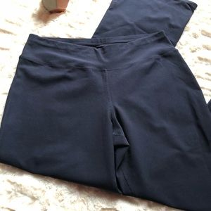 Lucy Navy Blue Full Length Workout Pants